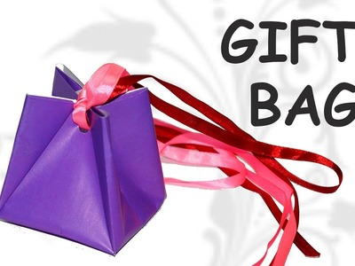 DIY crafts - paper gift bag. origami easy. DIY beauty and easy