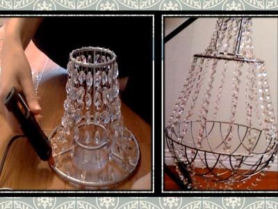 DIY: crystal chandelier