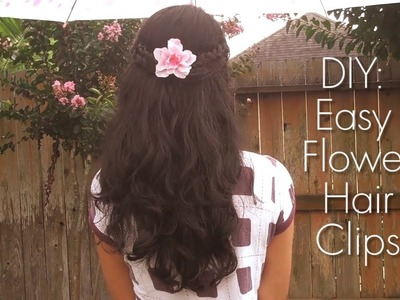 DIY: Easy Flower Hair Clips