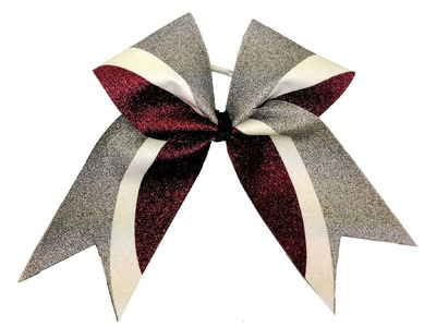 DIY Kick Swish Glitter Vinyl Cheer Bow With Cheer Bow Supply -  Silhouette Templates