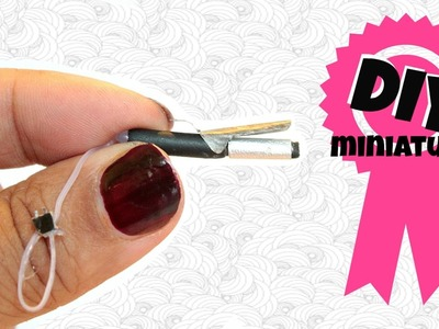 DIY Miniature Curling Iron - Doll crafts