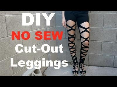 DIY no sew Cut out leggings!