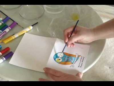 Easy Watercolor Painting with Crayola Washable Markers