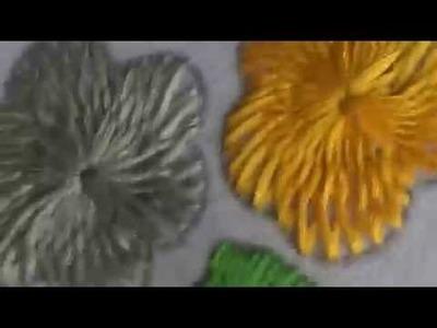 Embroidery works - chemanthy stitch flower (Variation) design(3)