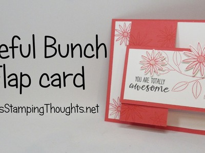 Flap card with Grateful Bunch stamp set from Stampin'Up!