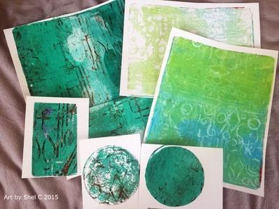 Gift Journal Part 1 - Gelli Printing Technique with Styrofoam