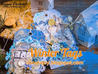 How to Create Winter Tags. Step-by-step tutorials. Scraps of Darkness.