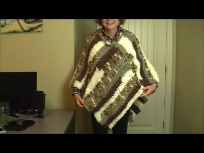 How to crochet a basic poncho