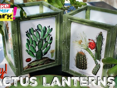 How to: Dollar Store Frame Lanterns