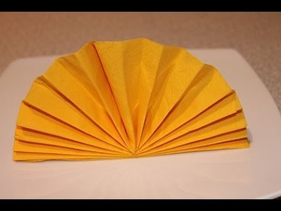 How to Fold Napkin - The Standing Fan Napkin Fold