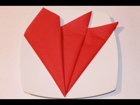 How to fold napkins - The French Napkin Fold