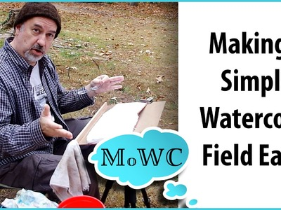 How to Make a Simple Watercolor Field Easel for a Tripod Mount