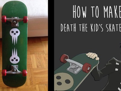 How to make Death The Kid's skateboard - Soul Eater (VERY EASY)