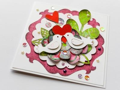 How to Make - Greeting Card Wedding - Step by Step DIY | Kartka Ślubna Okolicznościowa