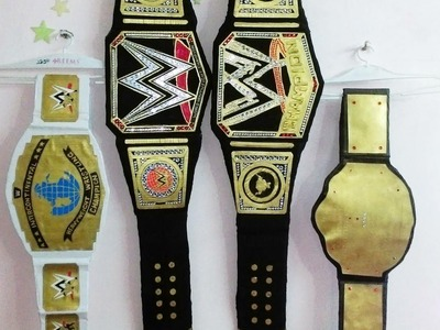 HOW TO MAKE HOMEMADE WWE WORLD HEAVY WEIGHT CHAMPIONSHIP TUTORIAL