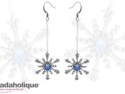 How to Make the Twirling Snowflake Earrings