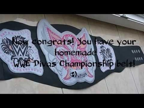 How to make WWE Divas Championship belt