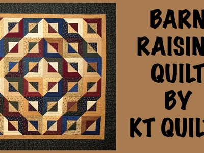 Kansas Troubles- Barn Raising Quilt with the Five & Dime Ruler