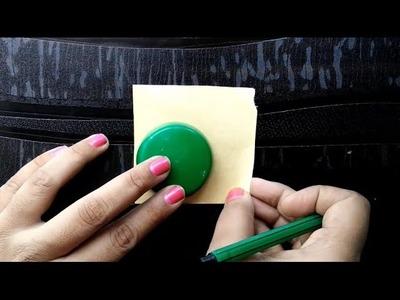 Making base for silk thread jhumka using cardboard|Silk thread jewelry base tutorial#2