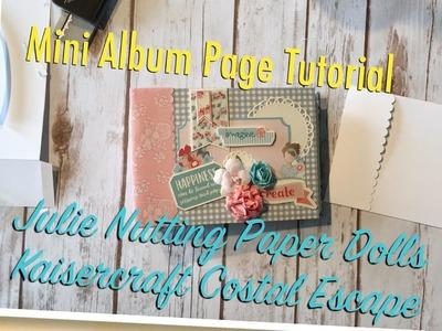Mini Album Page Tutorial   Julie Nutting Paper Dolls   Kaisercraft Coastal Escape
