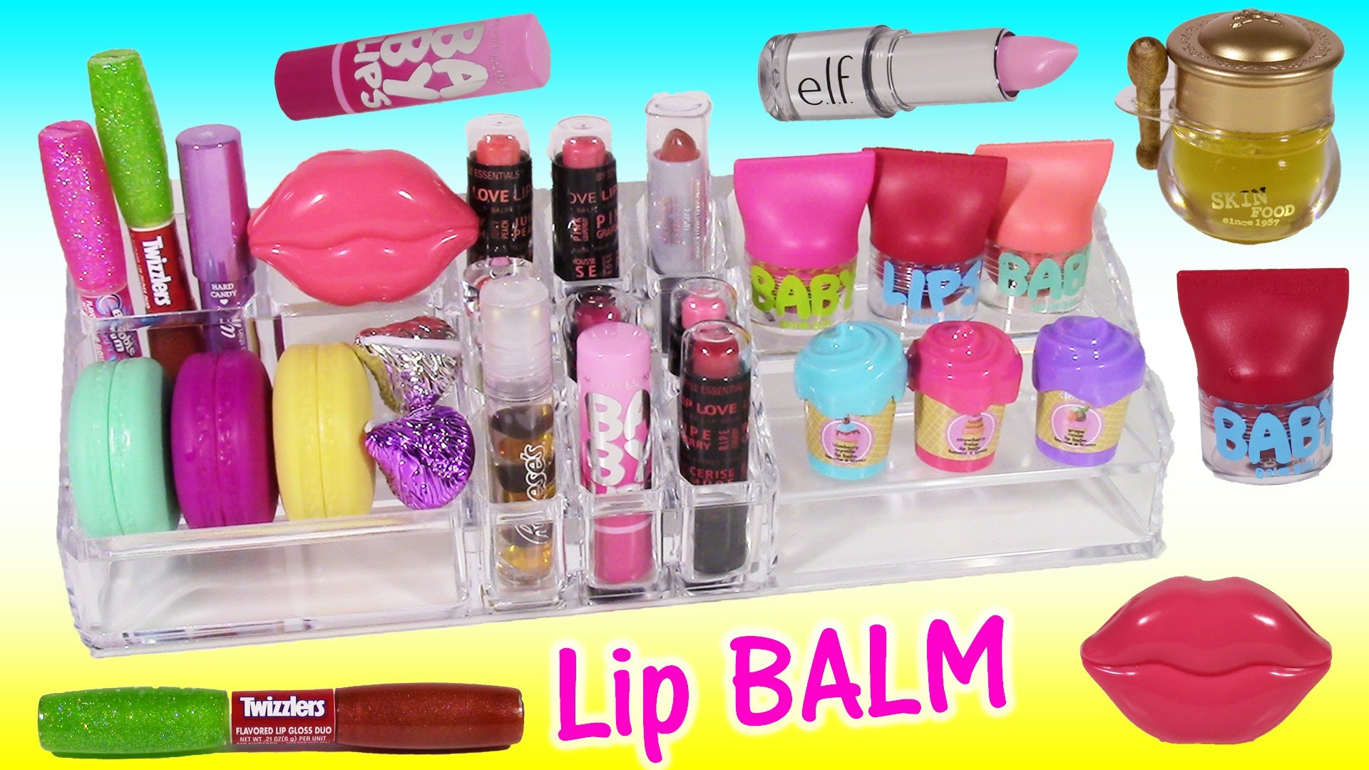 NEW LIP BALMS & GLOSSES! Candy Flavors Lip SCRUB Honey JAR! Baby LIPS!! Review & ORGANIZE!