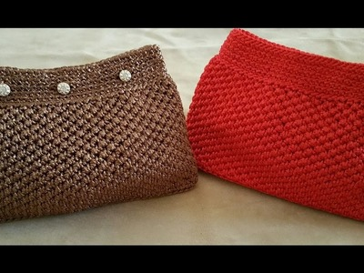 POCHETTE UNCINETTO.crochet clutch.embrague de ganchillo