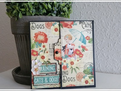 Raining cats and dogs - Flip album with a Tutorial - #PawgustArt