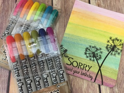 TIm Holtz Distress Crayons Easy Background