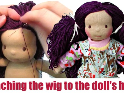 DIY | Attaching the wig to the (girl) doll's head | Sami Doll Tutorials