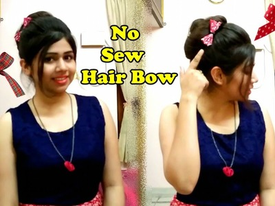 DIY Bow | No Sew Hair bow | How to make Bow Quickly | Shweta Verma