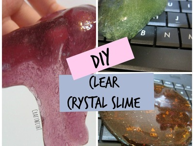 DIY Clear Crystal Cleaning Slime | How-To | CraftWithT | Craftcellent Sunday