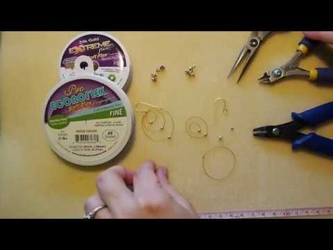 DIY Episode 2: Use Gold Colored Pro Econoflex™ Beading Wire to Make Earrings