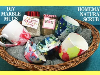 DIY MARBLE MUGS and HOMEMADE NATURAL SCRUB (Using Home Ingredients Only)