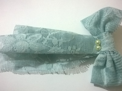 Do it yourself! How to make hair bow, Diy ribbon bow,baby headband, homemade