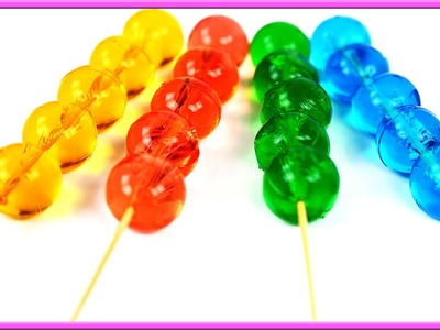 How to Make Rainbow Colours Skewered Pudding Jelly Cooking Recipe DIY