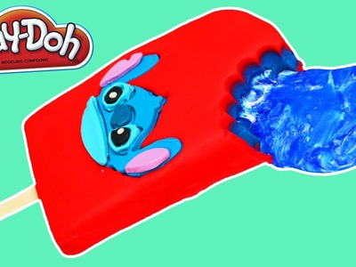 Play Doh Lilo & STICH Popsicle with Jelly Slime DIY Fun & Easy Disney Play Dough Ice Cream!