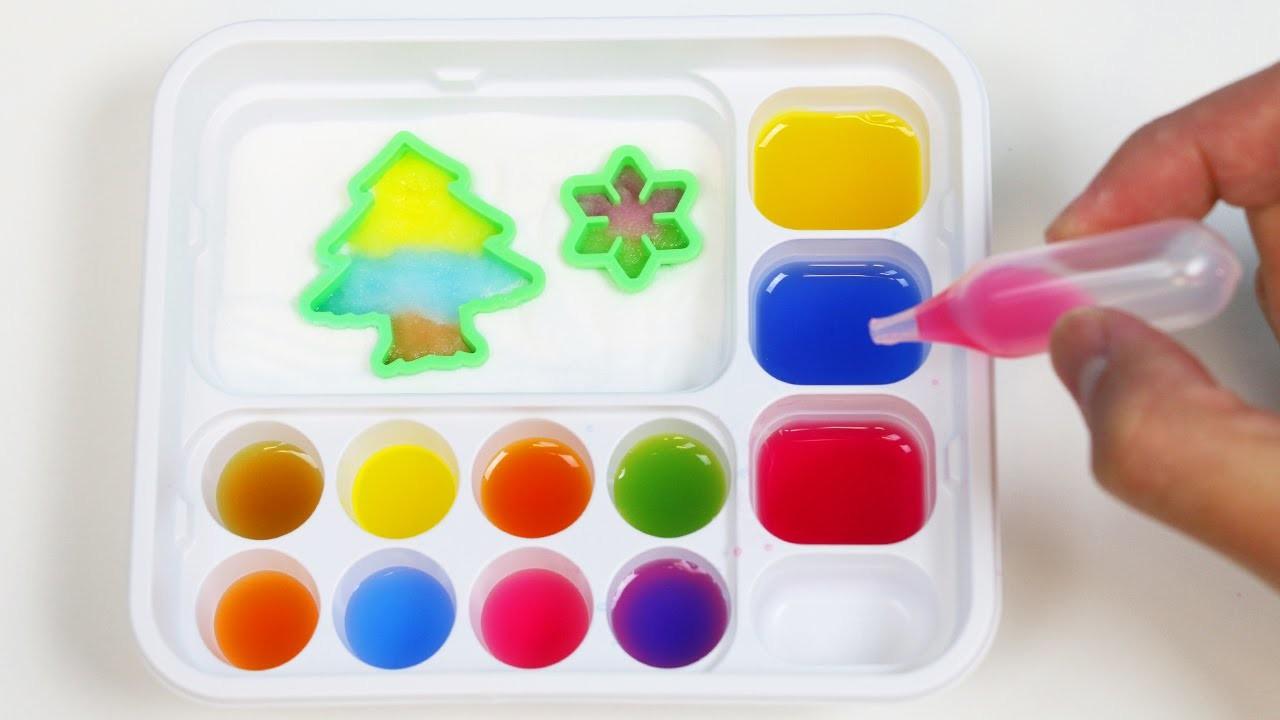 Popin Cookin Oekaki GUMMY LAND DIY Japanese Candy Making Kit Mix & LEARN COLORS!