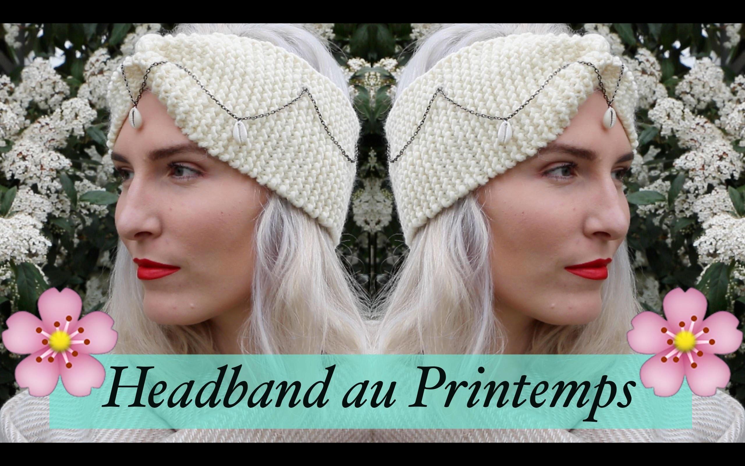 Porter le headband au printemps - DIY