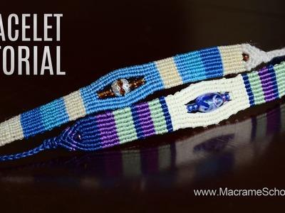 Sea Pearl Striped Beach Bracelet TUTORIAL by Macrame School