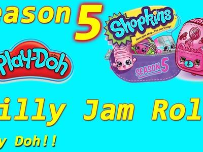 Shopkins Season 5 DIY Play Doh Jilly Jam Roll! Shopkin videos,cookie swirl c inspired