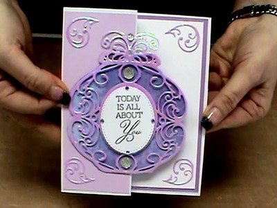 #136 Techniques with Nuvo Glitter & Simply Refined Dies and Stamps by Scrapbooking Made Simple