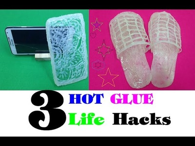 3 amazing things can be made with a hot glue gun - 3 fantastic things Life hacks