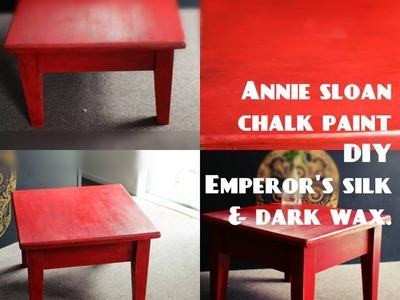Annie Sloan chalk paint Emperors silk W clear+dark wax. Full tutorial
