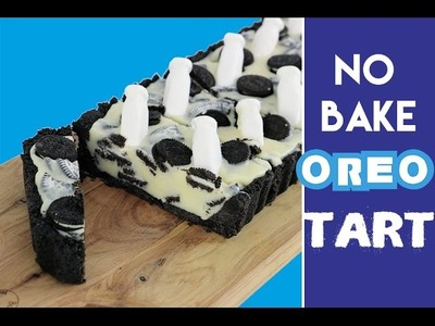 COOKIES & CREAM TART | No Bake Oreo Milk & Cookie Pie Recipe | My Cupcake Addiction