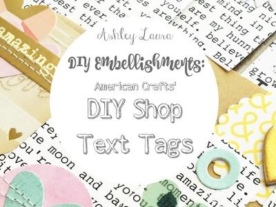 DIY Embellishments: DIY Shop Text Tags