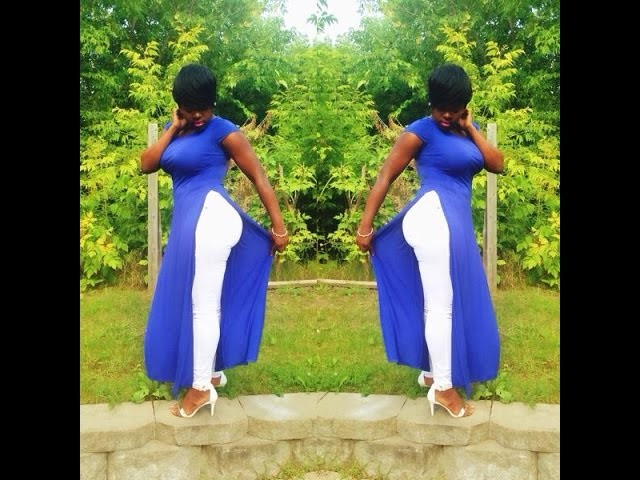 DIY: turn your maxi dress into a maxi top.tee (NO SEW IN)