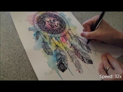 Dream Catcher - Speed painting by Fiona-Clarke.com