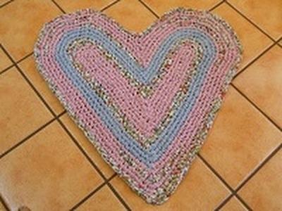 Easy Heart Rag Rug Part 1