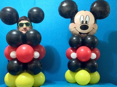 Easy Mickey Mouse Balloon Decoration!