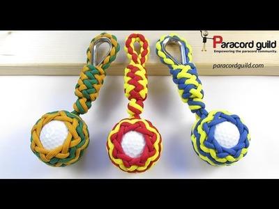 Golf ball paracord key fob